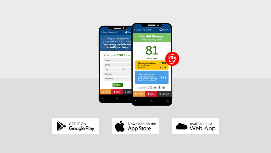 App Download Page EU Blue Card Visa 4