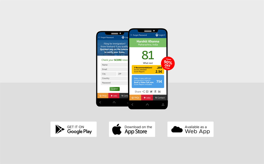 App Download Page EU Blue Card Visa