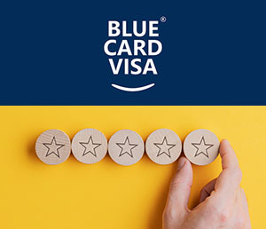 Premium EU Blue Card Visa App as an Online Service